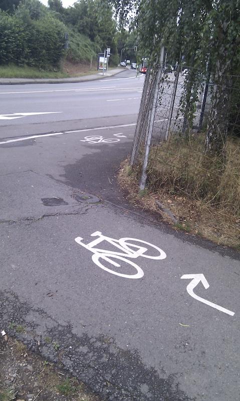 Radweg Kleingärten Olewig
