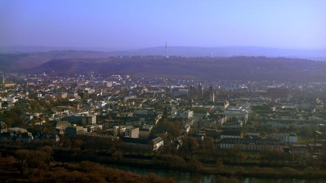 Trier von der Mariensäule mit weniger Dunst