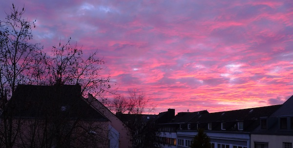 Himmel ist rot