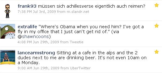Fav-Tweets 2009